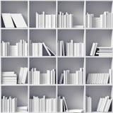 White bookshelves Stock Images