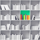 White bookshelves Royalty Free Stock Photography