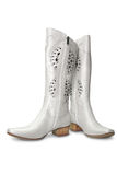 White boots Royalty Free Stock Images