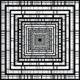 White border. Black stripe pattern. Linear style. Stock Photos