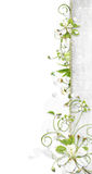 White border with cherry flowers vector illustration