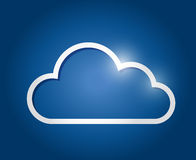 White border cloud illustration design Royalty Free Stock Images