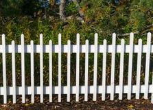 White border fence Stock Photo