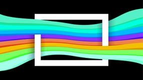 White border frame on black and colorful graphic background, paper white frame on colorful modern ad for banner web, border frames royalty free illustration