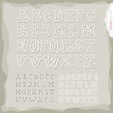 White border latin alphabet set Stock Photography