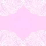 White borders on pink background Royalty Free Stock Image