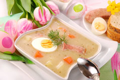 White borscht for easter Stock Images