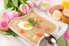 White borscht for easter Stock Images