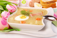 White borscht for easter Royalty Free Stock Image