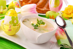 White borscht for  easter Stock Photo