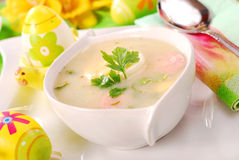 White borscht for  easter Stock Photo