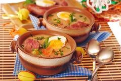 White borscht for easter Royalty Free Stock Images