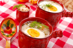 White borscht with horseradish Royalty Free Stock Photo