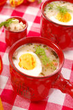 White borscht with horseradish for  easter Royalty Free Stock Photo
