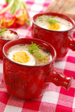 White borscht with horseradish for  easter Royalty Free Stock Image