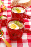 White borscht with horseradish for  easter Stock Image