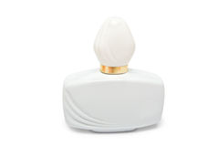 White bottle with perfume Stock Image