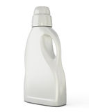 White bottle template for detergent. Isolated on white background. Bottle template for detergent for your design. 3d illustration Stock Photos