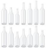 White Bottles set Stock Photo