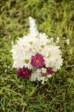 White Bouquet with Pink Accent Royalty Free Stock Image