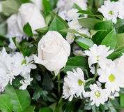 White bouquet Stock Images