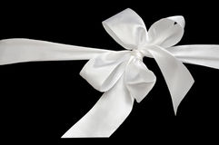 White bow. Stock Images