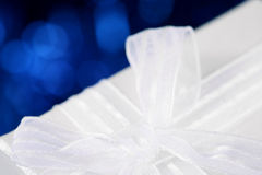 White bow Royalty Free Stock Photography