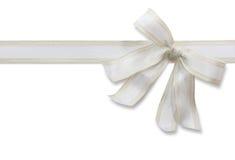 White bow Royalty Free Stock Image