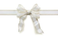 White bow Royalty Free Stock Images