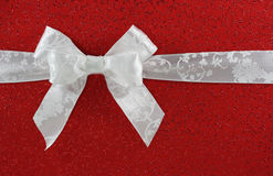 White bow Royalty Free Stock Photos