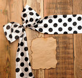 White bow with black dot Royalty Free Stock Photo
