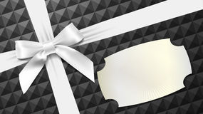 White bow on a black textured background