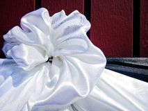 White Bow for Funeral Stock Photo