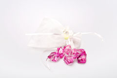 White bow, ribbon Stock Photo