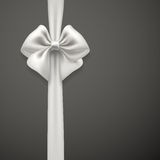 White bow ribbon Royalty Free Stock Image