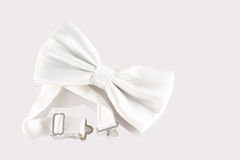 White bow tie close up Royalty Free Stock Images