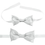White bow tie isolated Stock Photography