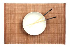 White bowl Stock Image