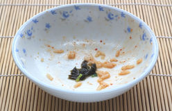 White bowl with food stains Royalty Free Stock Photo