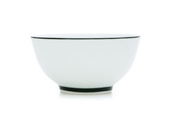 White bowl isolated Royalty Free Stock Image
