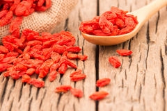 White Bowl With Dried Goji Berries Prepare ForWomen Who Want To Stock Photos