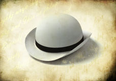 White bowler cap Royalty Free Stock Photos