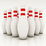 White bowling pins Royalty Free Stock Photos