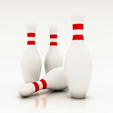 White bowling pins Stock Images