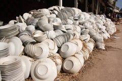 White bowls Stock Photo