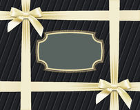 White bows on textured background Royalty Free Stock Images