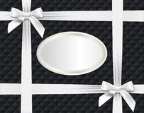 White bows on textured background Royalty Free Stock Image