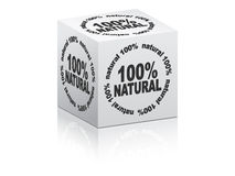 White box 100% natural Royalty Free Stock Images