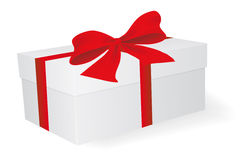 White box with bow Royalty Free Stock Photography