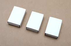 White box. On brown background Stock Images